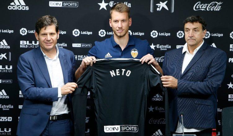 Neto, nuevo jugador del Valencia CF hasta 2021
