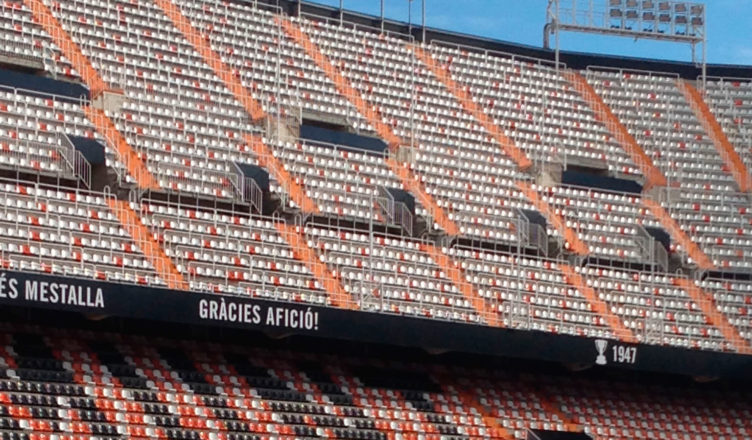 Mestalla stadium. Home of Valencia FC