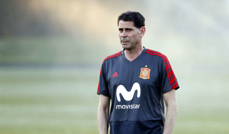 Hierro como seleccionador de España