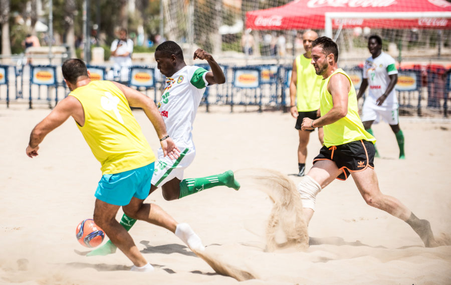 fútbol playa en Valencia
