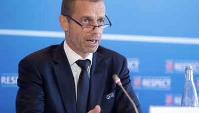 Aleksander Čeferin at Monday's UEFA Executive Committee meeting