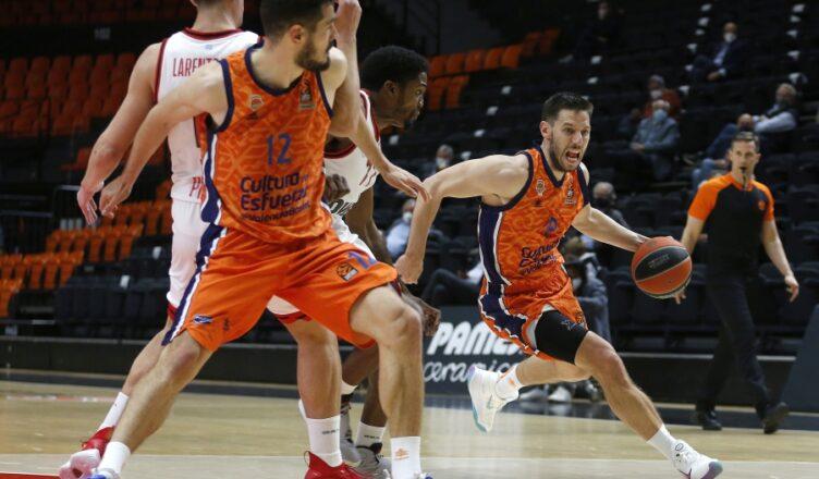 Valencia Basket cortó su racha al caer ante el Olympiacos